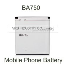 1500mAh BA750 cell mobile phone battery bateria for xperia Arc S LT15i LT18i free singapore air mail with retail box