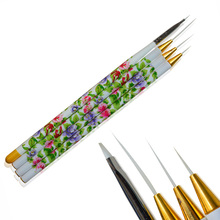 4pcs Pro New Beauty Handle Polish Gel DIY Painting Drawing Pen Nail Art Brush Kits Salon Express Nails Care Tools LANC064(China)