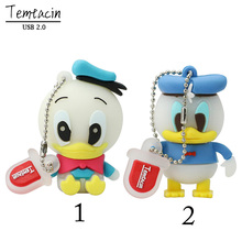 Free Shipping Cartoon Role Donald Duck USB Flash Drive Cartoon Pen Drive Cool Gift Animal 4GB/8GB/16GB/32GB 100% Real Capacity
