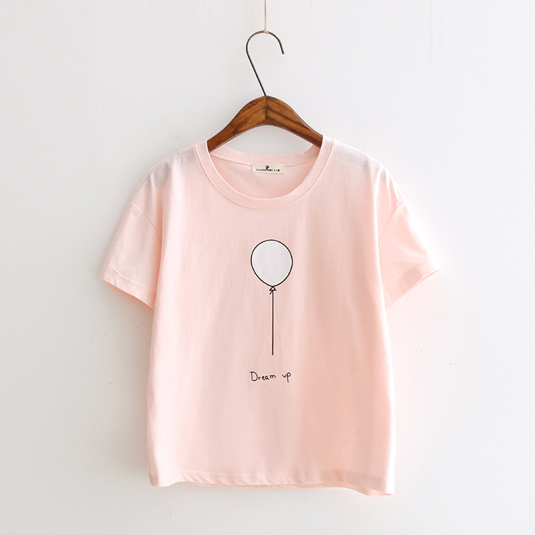 white pink color print camisetas 19 women summer kawaii short sleeve t-shirts dream up harajuku casual cotton tops tee shirt 4