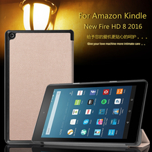 For Amazon Kindle New Fire HD 8 HD8 2016 8.0 inch Tablet Ultra Slim Custer PU Leather Magnetic Smart Sleep Cover Case