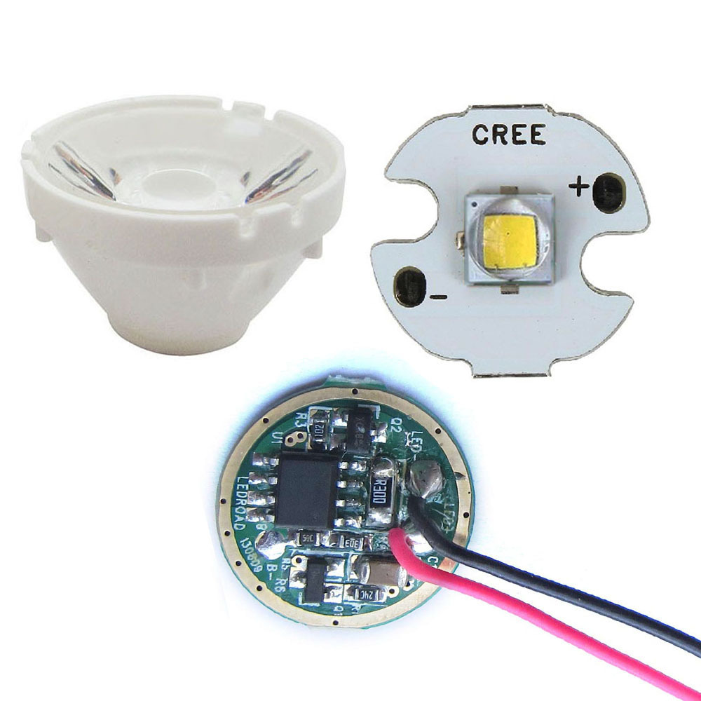 Cree 10W XML L2 / XML T6 With 16mm Star base Warm 3000K / White 6000K LED Light + 5-Modle Driver + Lens With Holder<br><br>Aliexpress
