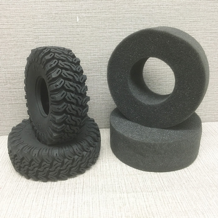 1 Pair 1.9 Inches *4.7 Tire Skin 120*42*48mm Simulation Black Rubber Wheel Tyre with Liner for 1/10 Climbing Car Modified Parts<br>