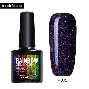 Modelones 10ML Shimmer Neon UV Nail Varnishes Led Lamp Vernis Semi Permanent UV Nail Gel Polish Nail Art Beauty Rainbow Nail Gel