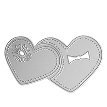 Silver Heart Center /Flower DIY Cutting Mold Cutting Dies Metal Template Clip Art Tool Paper Card Decorative Mold(China)