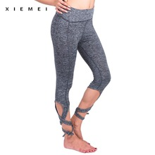 Buy women' high waist bandage sporting leggings fitness gyms active leggin sweat pant women capris workout legging femme sexy straps for $11.64 in AliExpress store