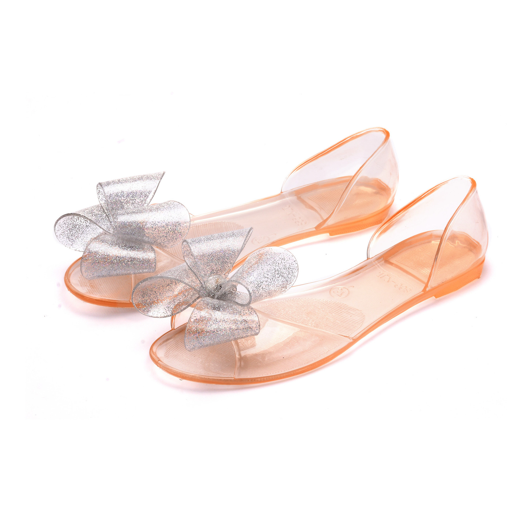 top brand women casual sandals big bowtie plastic sandal shoes adulto flats transparent jelly shoes female summer shoes XK021303<br><br>Aliexpress