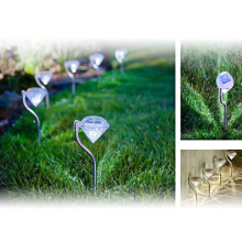 12pcs/lot Stainless Steel Solar Lawn Light for Garden Decoration Solar Power Outdoor Lighting Landscape Path Spot LED Solar Lamp