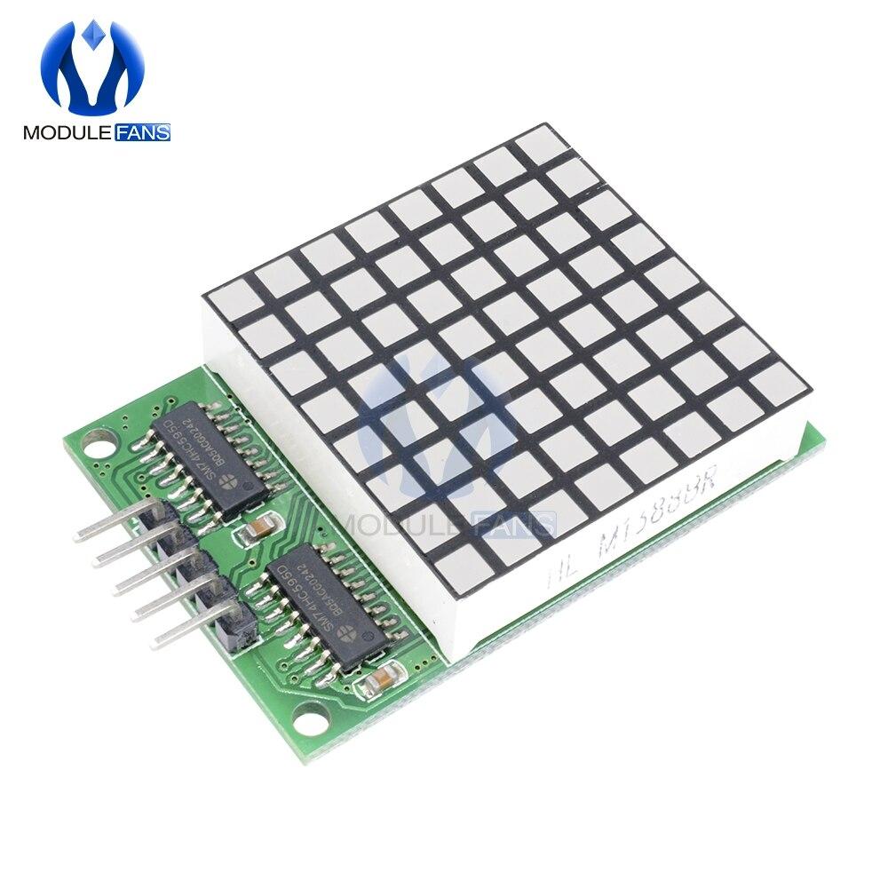 MAX7219 DIY Kit 8x8 3mm 5mm Dot Matrix Display Red//Full Color RGB LED Display