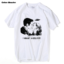 Buy X-FILES T shirt Men Fashion Mulder & Scully Want Believe T-shirt Male Cotton Hip Hop UFO Tees Summer Kiss Printed Top Cloth for $12.47 in AliExpress store