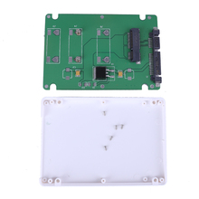 SSD mSATA To 2.5 inch SATA 3 Adapter Converter Card with 2.5 inch White Case standard 7 + 15Pin Plug Connector