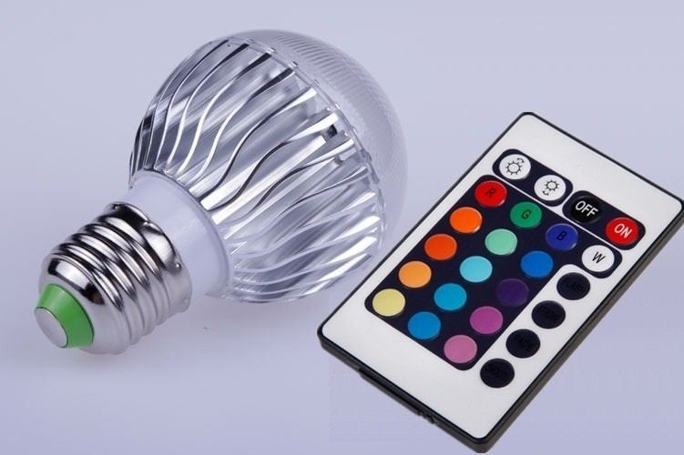 Wholesale -RGB Led globe bulb E27 9W 110V 220V RGB Color Changeable LED Light Bulb lamps Wireless Remote Contrel<br><br>Aliexpress