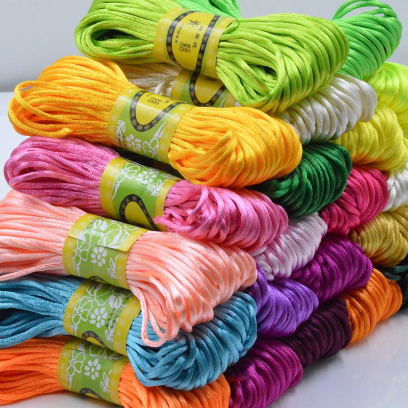 About 20M/lot Korean Silk Rope String Thread DIY Handmade Materials Chinese Knot Wire Bracelet Jewelry Accessories Braided Rope(China (Mainland))