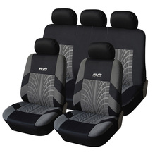 Tyre Line Seat Covers & Supports Full Car Seat Cover Universal Auto Interior Accessories  Gray Car Seat Protector