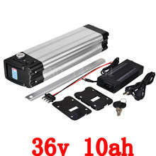1200 times cycle Lifepo4 battery 36V 500w Electric Bicycle Battery 36V 10AH LiFePO4 Battery with Silver Slim Aluminium Case(China)