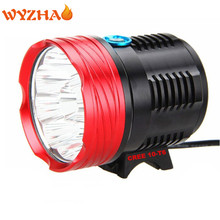 NEW-XM-10-T6 LED 20000 Lumens  Bike lights headlight Mountain lights floodlight The searchlight Bicycle big  flashlight