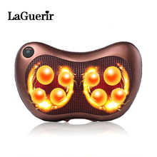 Health Care Massage Balls Electric Neck Back Relaxation Pillow Massage Devices Cushion Shiatsu Massager with Heat Car Home