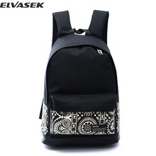 Elvasek free shipping! 2015 hot sale women backpack fashion bags travel bags backpack casual bags cartoon styles bolsa LS6245(China)