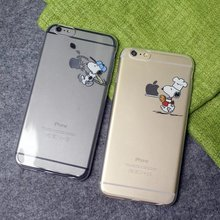 Cute Puppy Snoopie Dog Baby Cartoon Clear Soft TPU Case for iPhone 5 5S SE 6S 6 7 Plus