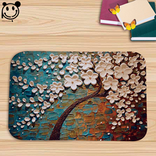 PEIYUAN Doormat Print 3D Colorful Trees Mat Flannel Fabric Soft Rug Carpet 40*60