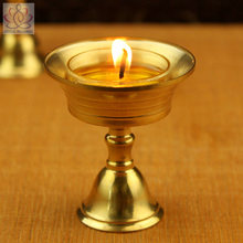 Copper Candle holder Ghee Lamp Holder 2pcs/Set Tibetan Butter Brass Oil Lamp Buddhist Supplies Metal Craft Home Decor