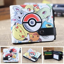 Pokemon ball cards wallet pikachu men's wallets Naruto Tokyo Ghou kids cion purse zipper hasp dollor price