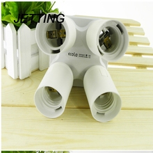 JETTING New 1PC Lamp Base Adjustable 4 In 1 E27 Base Light Lamp Bulb Adapter Holder Socket Splitter 1 To 4 With Best Price