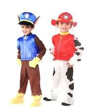 Halloween party cosplay children kid patrol dog costume cartoon mascot costume clothes bag hat skye chase Marshall costume(China)
