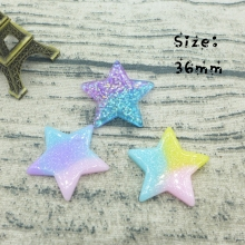 Kawaii Star  flatback resin cabochon for phone deco  hair bow diy  Scrapbook Embellishment