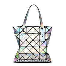 Hot Sale Bao Bao Lattice Ladies Laser colors Bag Geometric Diamond Fashion Handbag Luxury Shoulder Bag Top Design Shopping Bag(China)