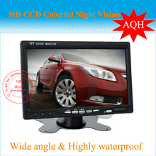 "7"" TFT LCD Screen Backup Camera Car Rearview Monitor VCR GPS CAMERA 2 AV Inputs"