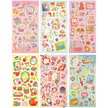 New Bronzing Style Romantic Fairy Tales Dairy Sticker/cute Diy Note Sticker/decoration Label
