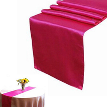 1 PCS Luxury Satin Table Runner Elegant Table Runners Table Cloth Wedding Decoration Party Products Home Textile 9 Colors(China)
