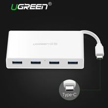 Ugreen USB C Hub 4 ports High Speed Type C USB 3.0 Splitter with Charging Interface for Macbook Laptop USB-C Hub Type-C(China)