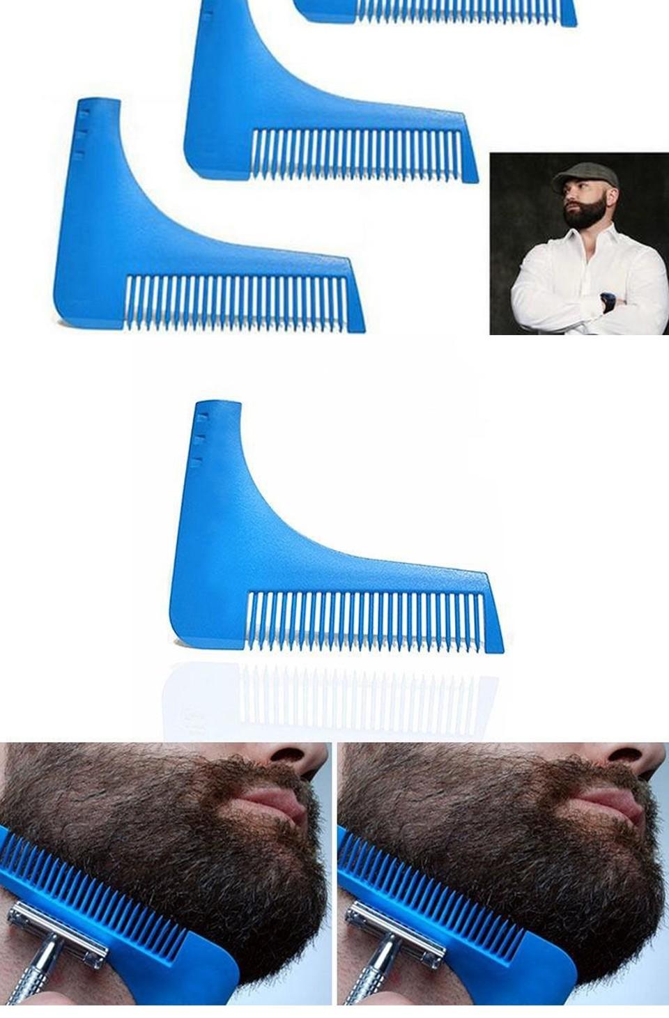 3pcs natural wooden beard comb boar bristle hair brush lice comb men beard apron barber salon cape hairdressing for haircut 16