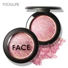 FOCALLURE 6 Colors Natural Face Pressed Blush Nude Bronzer Makeup Minerals Baked Blush Palette Cheek Cosmetic Face Shadow Z3(China)