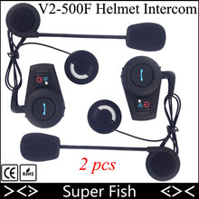 2pcs FreedConn Motorcycle Helmet Intercom GPS Headset Bluetooth Motorbike 2 Rider Intercom System 500M BT Wireless Interphone