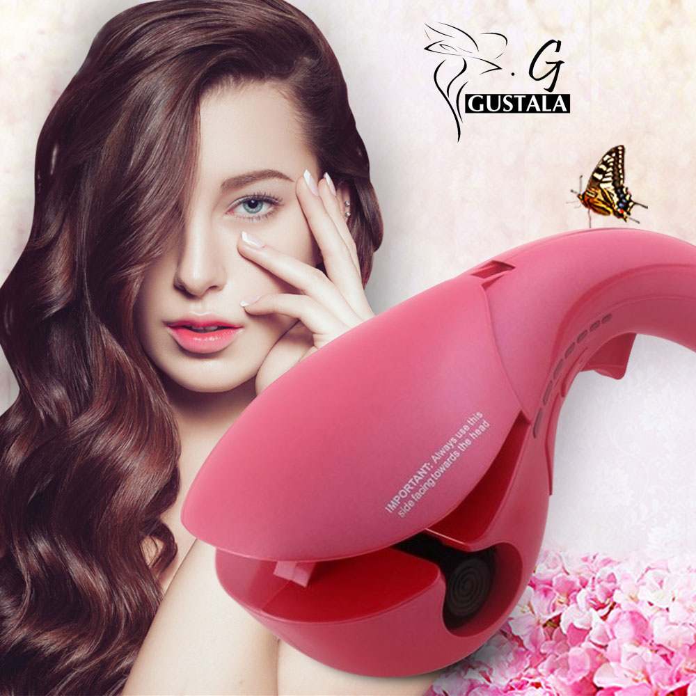 Gustala Professional 110V - 230V Magic Negative Ion All Automatic Bendy Hair Curlers Anion Luxury Perfect Curling Iron<br>