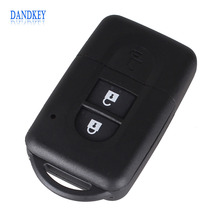 Dandkey New Replacement Remote Key Shell Case Fob Keyless Entry 2 Button for Nissan Micra Xtrail Qashqai Juke Duke With LOGO