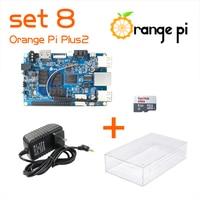 Orange Pi Plus 2 SET8: Pi Plus 2+ Power Supply + Transparent Acrylic Case +8GB Class SD Card for Orange Pi Beyond Raspberry