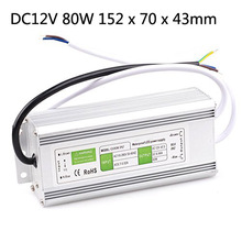 DC 12v 10w 15W 20W 30W 36W 50W 60W 80W 100W 150w 200w Led Outdoor Waterproof  Transformer  Led Driver Switch Power Supply Ip67