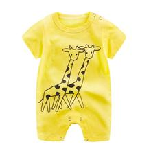 Baby Romper 2017 Newborn Infant Baby Boy Girl Cartoon Romper Cute Jumpsuit Climbing Clothes D50
