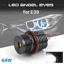 1 Set 2*32W 64W CREE Chip LED Marker Angel Eyes Retail Box 7000K XENON White/Blue/Red For BMW E39 E53 E60 E61 E63 E64 E65 E87