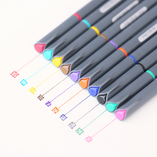 10 Colors Set 0.38MM Fine Liner Colored Marker Pens Watercolor Based Art Markers For Manga Anime Sketch Drawing Pen(China)