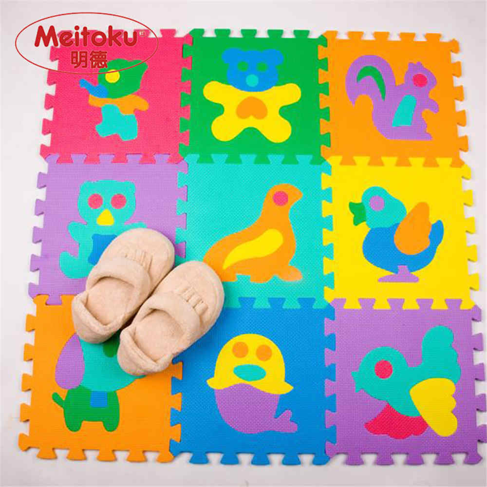 0ccec7cc84e Meitoku EVA foam baby play Puzzle floor mat Animal Interlocking tiles pad