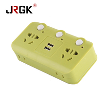 JRGK 2 USB Ports AC Power Strip Socket Charger Home Wall Charger Adapter Outlet USB Slots Hub Converters