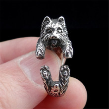 For sale: new products sell like hot cakes Yorkshire Terrier Rings Adjustable Ring, Yorkie, Dog Jewelry, Puppy Ring,12/PCS