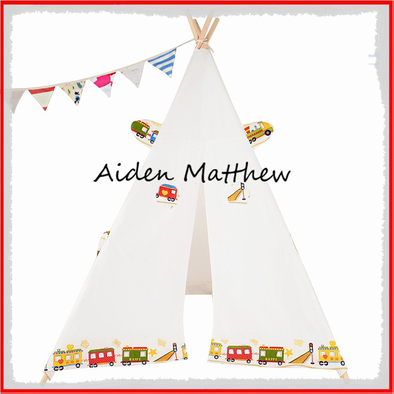 High Quality Cotton canvas Kids Tent House Canvas Tipi Tent<br><br>Aliexpress