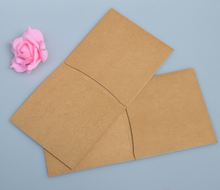 Qi 20pcs/lot Kraft Double CD Case CD Box Quality Kraft Paper DVD Box Cover Envelope DVD Box Sleeve Holding 2 dj Discs Wholesale