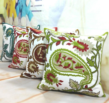 Corpse Flower Embroidery Cushion Covers Colorful Flower Decorative Throw Pillowcase Good Quality Baby Bedroom Decoration
